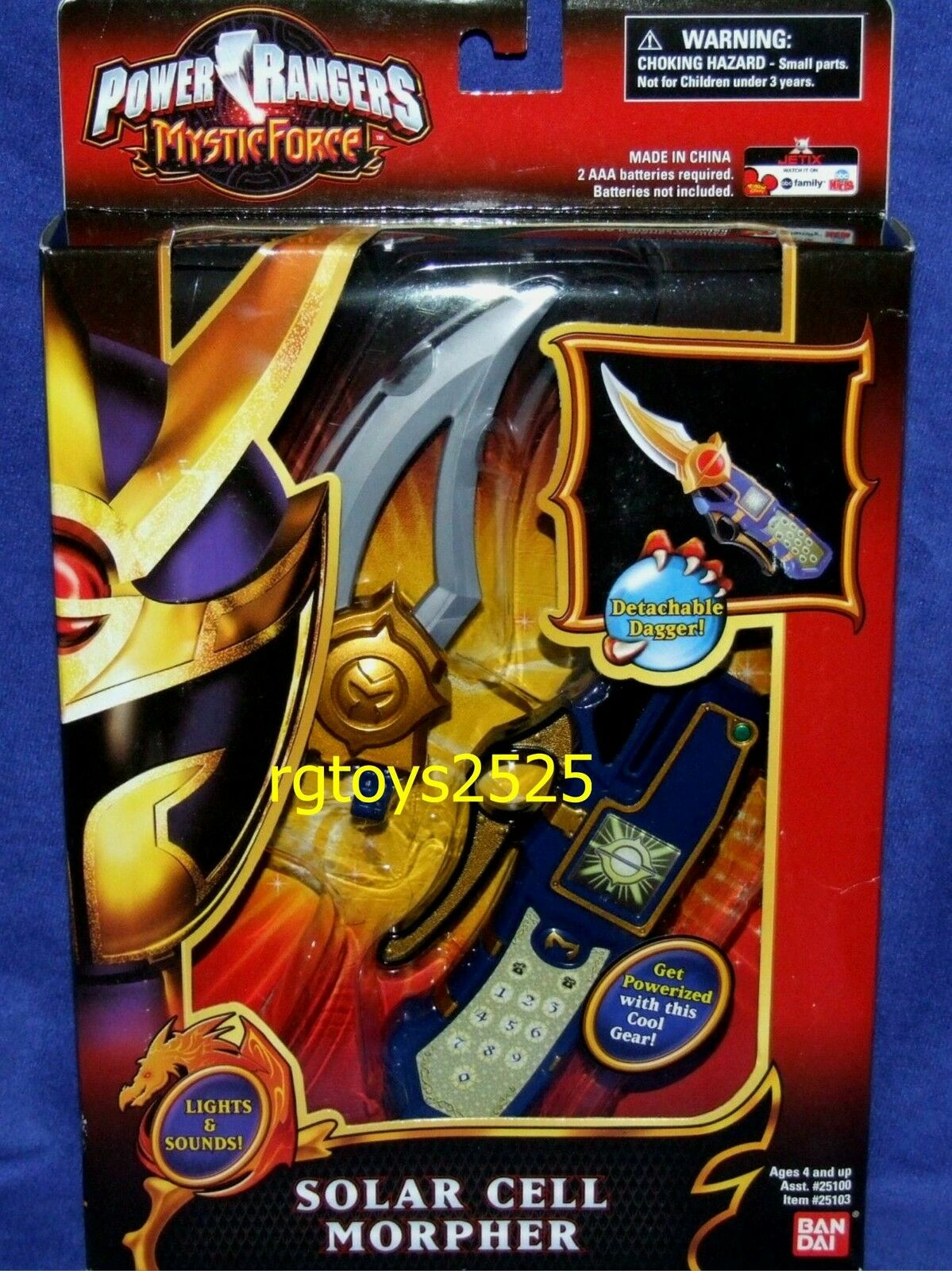 Power Rangers Mystic Force Solar Cell Morpher New with Lights Lights Lights and Sounds 743af1