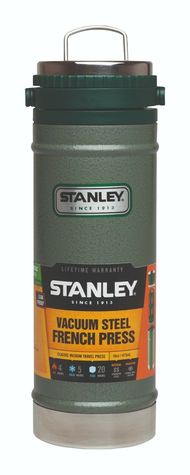 Stanley Classic Vacuum Travel Press Potable Tasse 18 8 Edelst. marteau frappe 654700