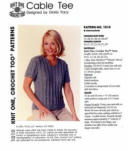 K1c2 Knit One Crochet Too Knitting Pattern 1010 Women 33 63 Cable