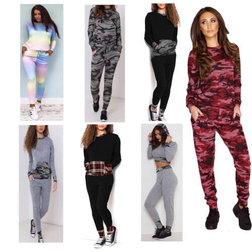 New Women Ladies Sweatshirt Jogger Lounge Wear Tracksuit Set Jumper Pants 8-22