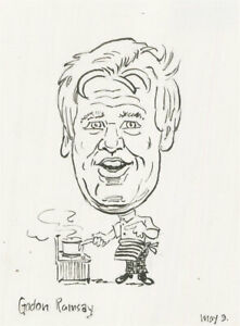 Terry Shelbourne (1930-2020) - Contemporary Pen and Ink Drawing, Gordon Ramsay