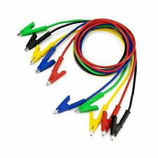 5pcs Alligator Clips Electrical Test Leads Set 15a Jumper Wires Heavy Duty With