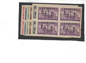 1946-Poland-Liberation-SG-548-53-set-of-6-in-block-four-muh