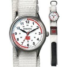 Dakota Nurse Medical White Nylon Sport Band Watch