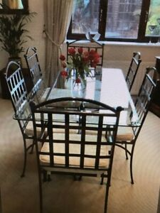 Wrought Iron Dining Table And Chairs, Wrought Iron Dining Table And Chair Set