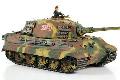 VS Tank Pro 1:24 Scale German King Tiger HENSCEL Turret 3-Tone Camouflage RC Bat