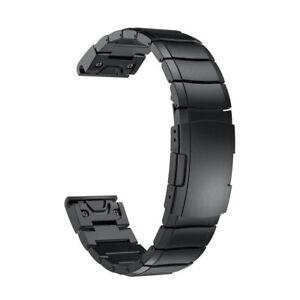 Schnelle-Ersatz-Band-Uhrenband-fuer-Garmin-Fenix-5X-Armbanduhr-Edelstahl-Armband