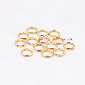 Lots Gold Jewelry Findings accessories stainless steel Jump Ring & Open Ring DIY