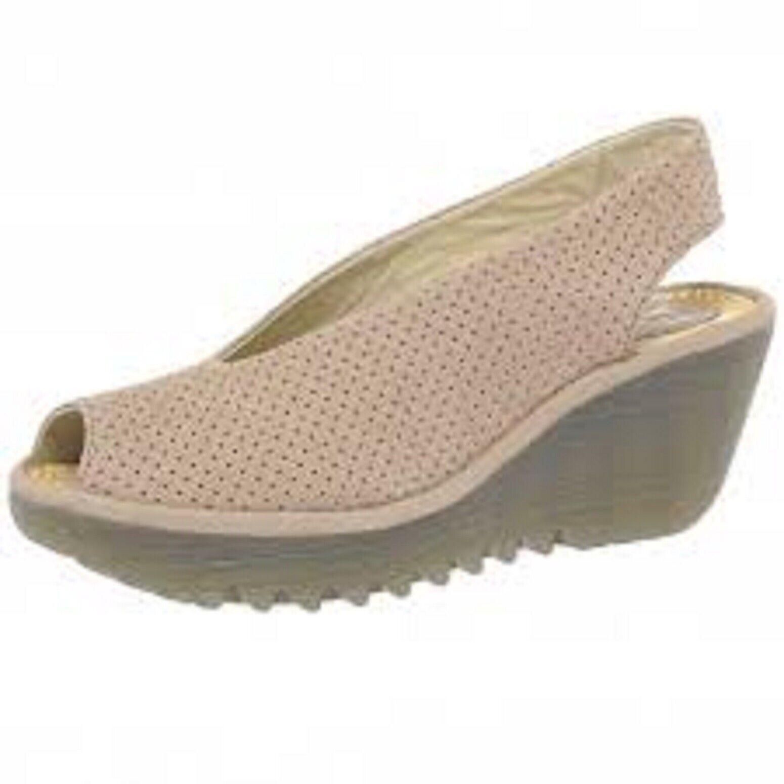 Señoras Sandalia Zapato Zapato Zapato Fly London Yazu 736 de los 2 Colors para Elegir Nuevo Y En Caja 534010