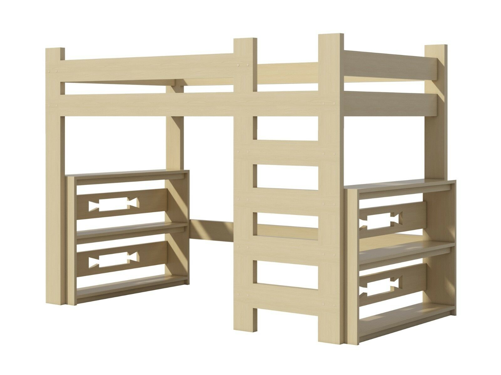 Loft Bed Plans DIY For Kids College Dorm Woodworking Furniture Build Your  Own