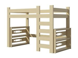 Loft Bed Plans Diy For Kids College Dorm Woodworking Furniture Build