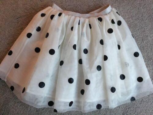 H/&M White and black spot skirt 8-10