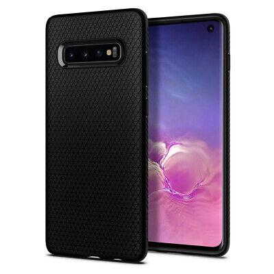 Galaxy S10, S10 Plus, S10e Spigen® [Liquid Air] Black Protective Slim Cover Case