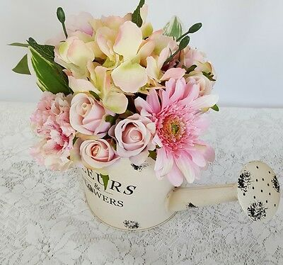MOTHERS DAY GIFT Flowers for Her - Watering Can with Pink Spring Flowers for Mum