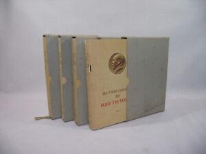 Lot-4-Tomes-UVRES-CHOISIES-MAO-TSE-TOUNG-1968-editions-langue-etrangere-Pekin