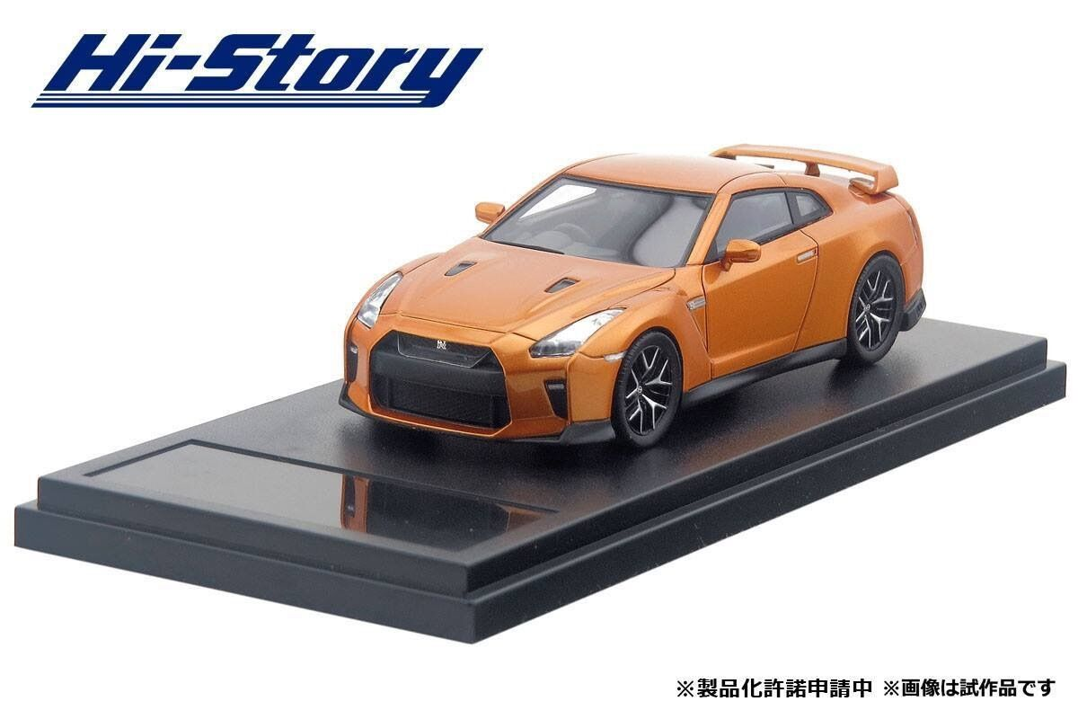 1 43 Hi-Story Nissan Skyline GTR R35 Pure Edition 2017 orange HS189OR