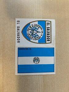 PANINI MEXICO 70 EL SALVADOR BADGE & FLAG (NO BACKING)