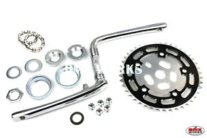 Chainring Old School BMX Style Crank Bearing Sets 110 BCD Black /& CP Spider