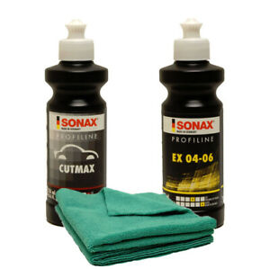 SONAX-CutMax-Compound-amp-EX-04-06-Polish-250ml-Combo-Kit-SON-246141-CMB