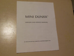 Flavor Mini Dunxx Arcade Game Manual Fragrant In