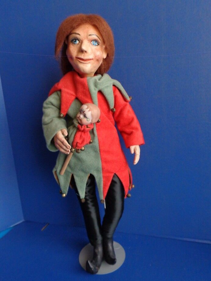 21  One of a kind ARTIST SCULPTED JESTER DOLL
