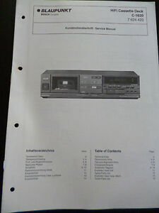 Original-Service-Manual-Blaupunkt-Hifi-Cassette-Deck-C-1620