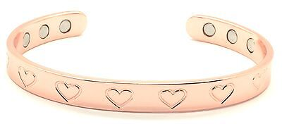 HEART COPPER BRACELET MAGNETIC  THERAPY PAIN RELIEF HEART BANGLE ARTHRITIS