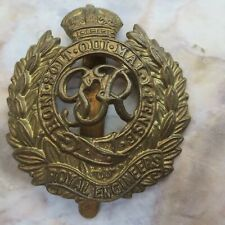 Leather Keyring Engraved Royal Engineers Military England Flag