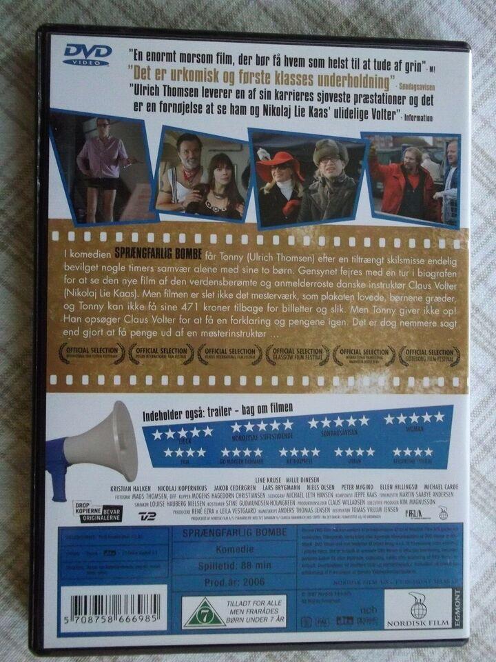 Sprængfarlig Bombe, instruktør Thomas Villum Jensen, DVD