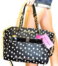 Betsey Johnson Hidden Treasure 2 Bags in 1 Satchel Tote Bag Clutch Purse Set NWT