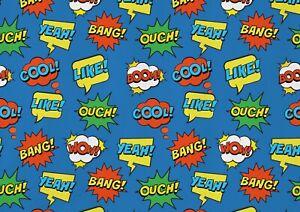 A1-Comic-Cool-Speech-Bubbles-Super-Poster-Art-Print-60-x-90cm-180gsm-Gift-15123