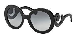 Image is loading NEW-Genuine-PRADA-Baroque-Black-Round-Curls-Sunglasses- 427804c2ea