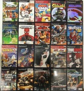 Playstation 2 PS2 - 20 Random games - Madden, Racing, Shooter, Action, Fighting
