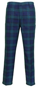 Image is loading Mens-60s-Vintage-Retro-Mod-Checked-Blackwatch-Tartan- 4861a12e4