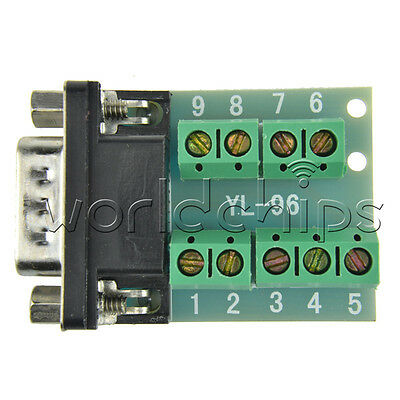 DB9 connector male adapter signals Terminal module RS232 Serial to Terminal wc