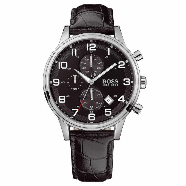 Hugo Boss HB1512448 Men's Aeroliner Black Dial Designer Chronograph Wrist Watch
