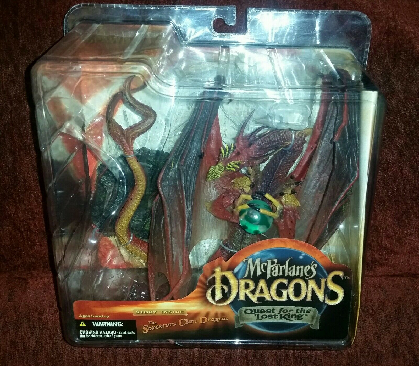 McFarlane Dragons Quest For The Lost King Sorcerers Clan Dragon RARE SPAWN HOT