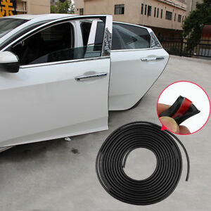 ebe8cfeb7 5M Black Car Door Moulding Rubber Scratch Protector Strip Edge Guard ...