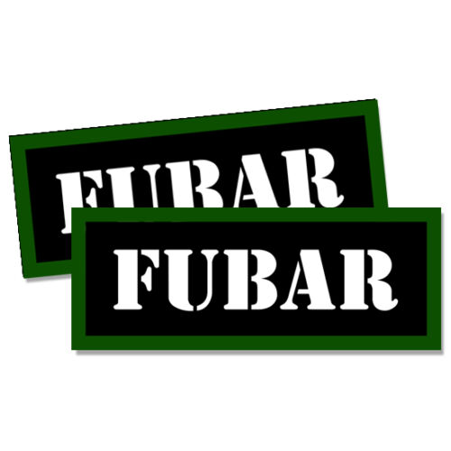 FUBAR Ammo Can Labels Ammunition Case stickers decals 2 pack  3x1.15