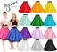 Girls-SATIN-Rock-n-Roll-Skirt-UK-1950s-Costume-Grease-Fancy-dress-ROCKABILLY thumbnail 1