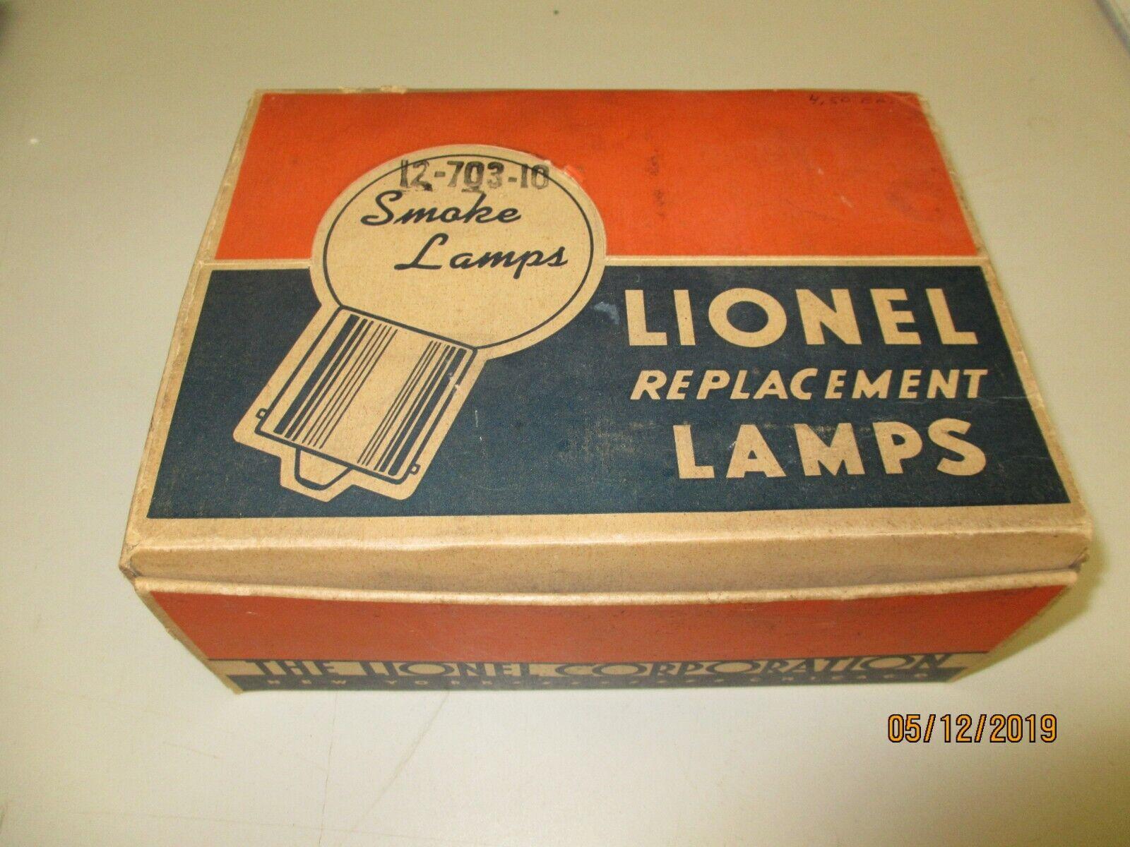 Lionel 12-703-10 Full Box (12) Smoke Lamps OB