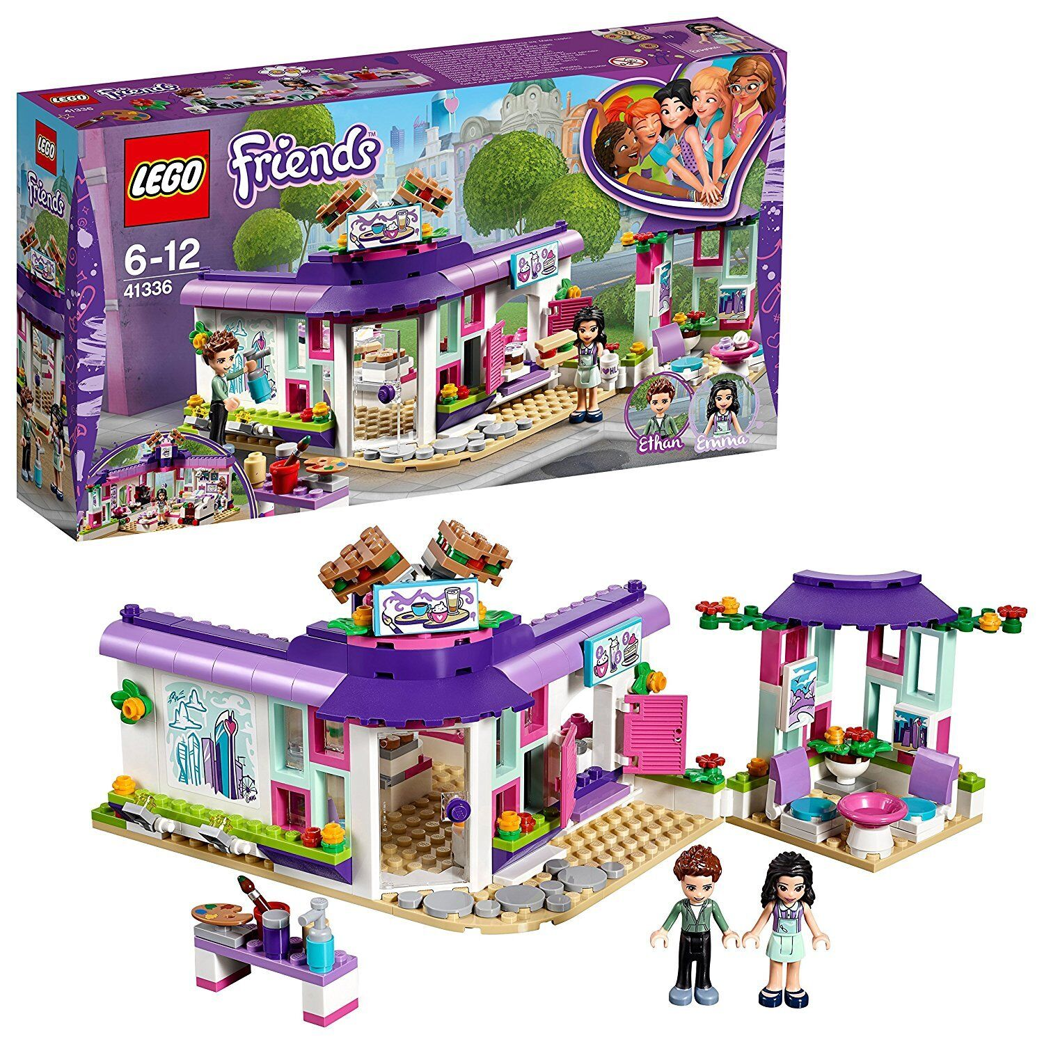 LEGO Friends Emma's Cute art cafe in Hart Lake Building Toy 41336 from Japan