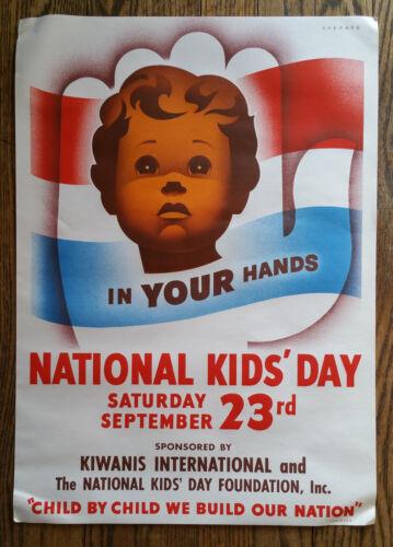 Original 1950 Otis Shepard National Kids Day Lithograph Kiwanis