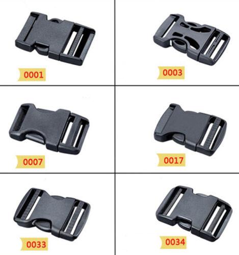 DIY 2 ~ 5 CM Black Side Release Plastic Buckle Safety buckle Clips For Webbing
