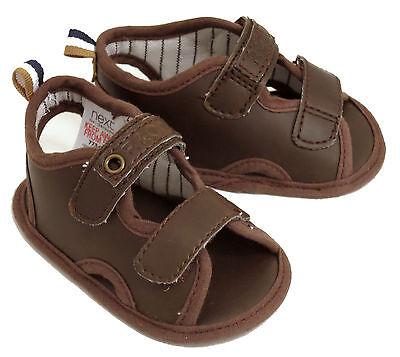 Próxima BEBÉ CHICOS marrón Sandalias Zapatos Talla 1 / 3-6 Meses