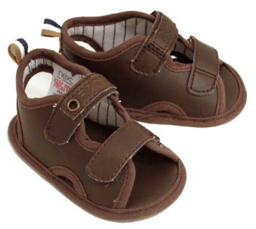 3-6 MONTHS NEXT BABY BOYS BROWN SANDALS SHOES SIZE 1