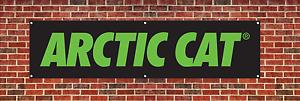 Arctic Cat Banner Poster dealer advertising sign Man Cave Garage 2/' x 7/' NEW