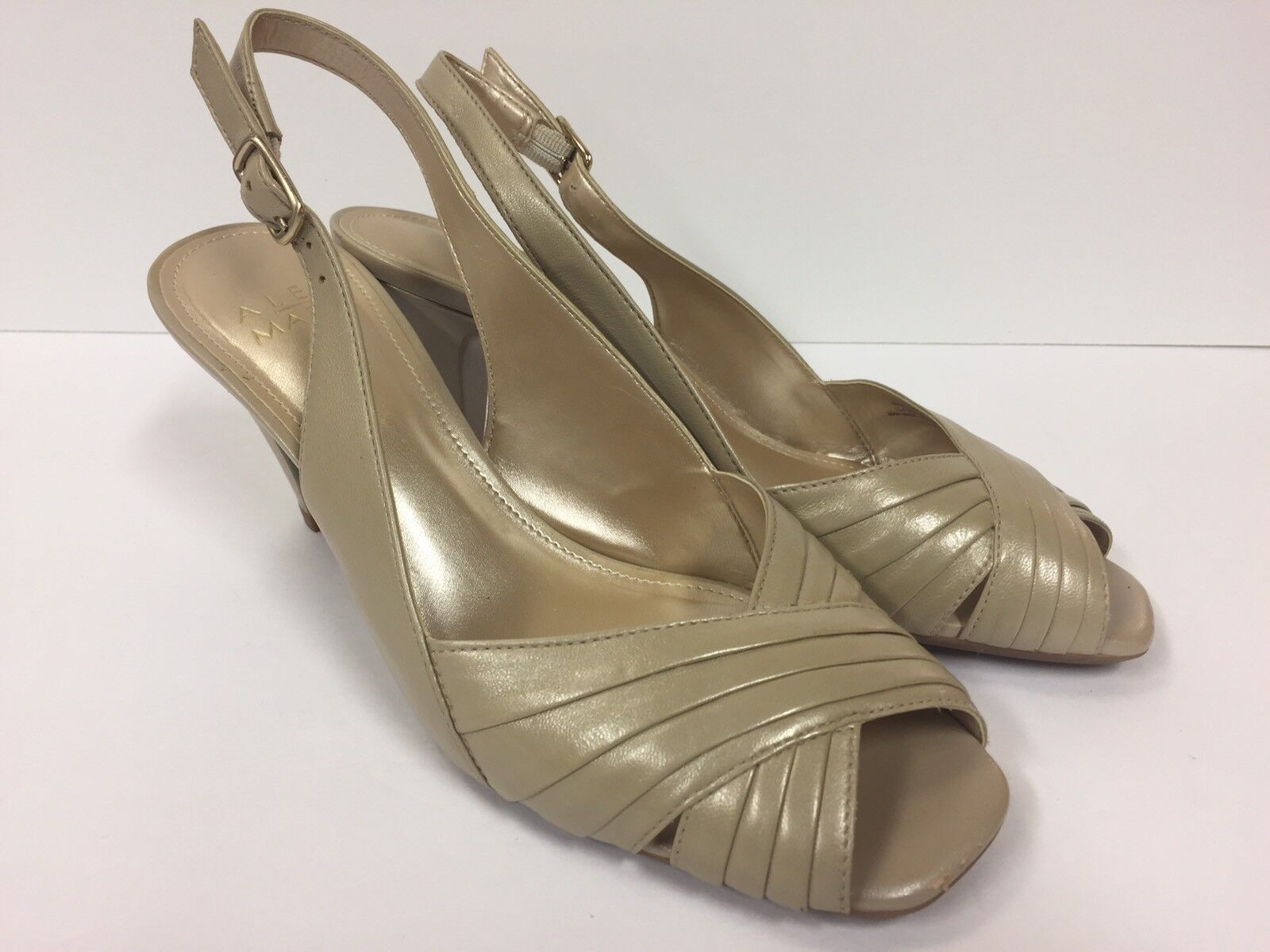 ALEX MARIE Peep 7.5 Toe Slingback sz 7.5 Peep Heels (RK730) 566231
