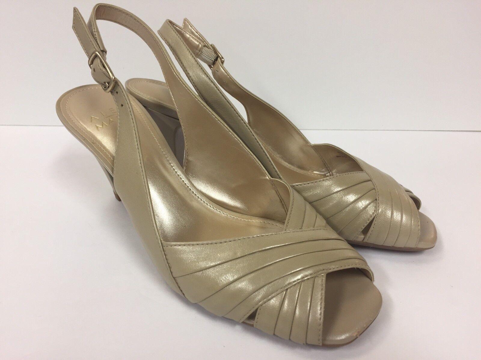 ALEX Slingback MARIE Peep Toe Slingback ALEX sz 7.5 Heels (RK730) 60b5ef