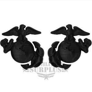 USMC EGA Enlisted Collar Device Screw Back Badge Black   eBay  USMC EGA Enlist...